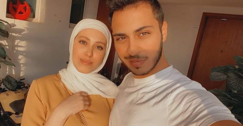 الوليد مقداد مع خطيبته نور غسان